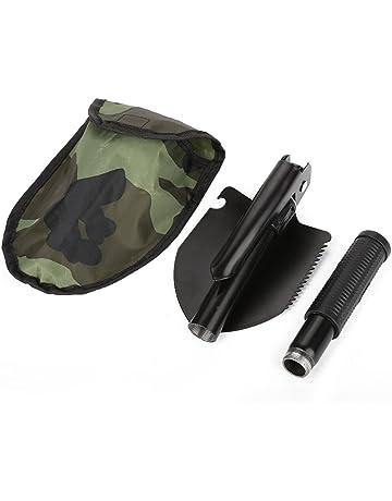 sunnydDAY Militaire Pelle Pliable Camping en Plein Air Survie De Secours Outils Multifonction Statut Scie Pelle Hoe Pickaxe Crowbar