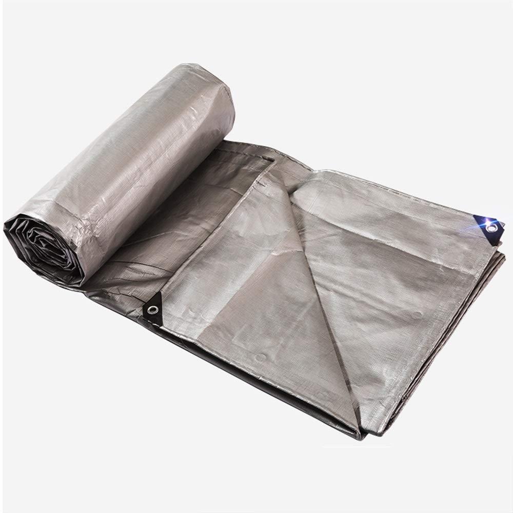 ZZHF pengbu Plane, Dicke regendichte Wasserdichte Kunststofftuch Auto Auto Markise Tuch Farbe Streifen Tuch Silber (größe   4m8m)