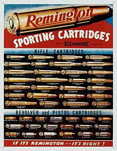 Unoopler Remington Sporting Cartridges Tin Sign 8X12in