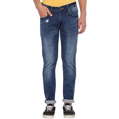 United Colors of Benetton Men s Slim Fit Jeans (18P4L23R8086I Blue 40) 81226fccf60d