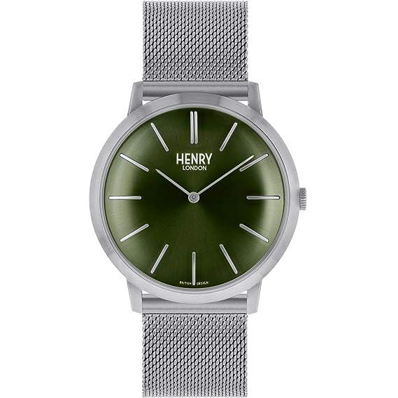 Henry London Reloj Analógico para Hombre de Cuarzo con Correa en Acero Inoxidable 5018479086246: Amazon.es: Relojes