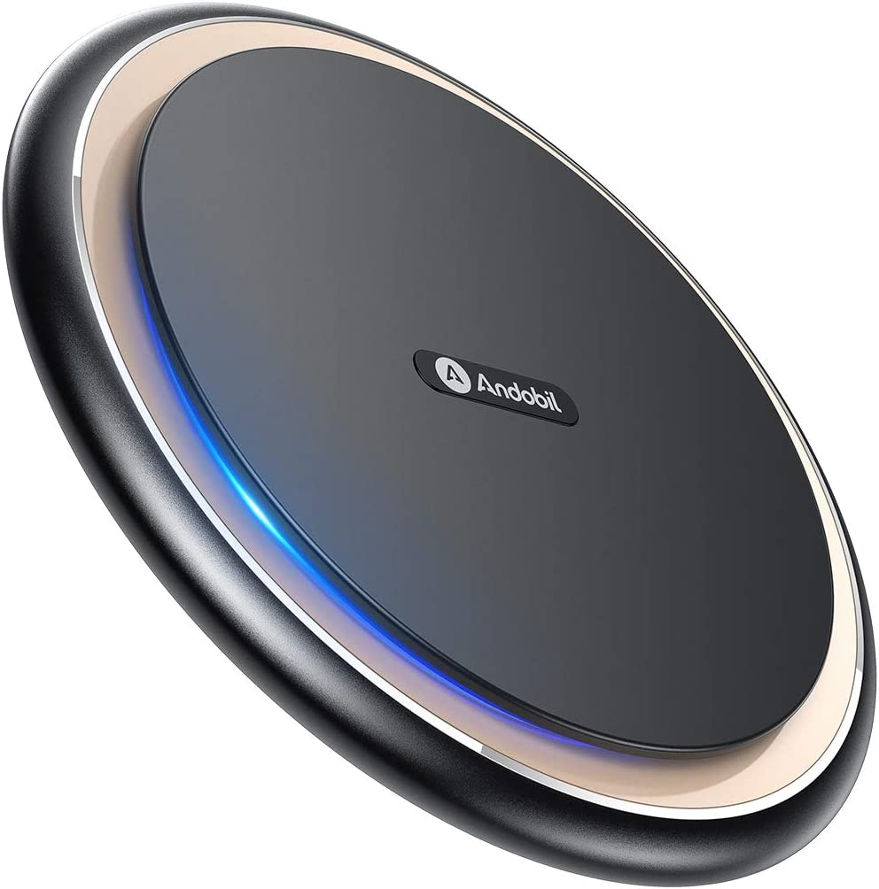 Andobil Boost 15W Fast Wireless Charger, USB-C Qi Alloy Cooling Charging Pad Station 10W 7.5W Compatible iPhone 11/11 Pro Max/XS MAX/XR/XS/X/8, ...