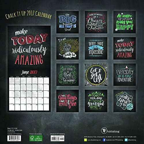 2017 Chalk It Up Wall Calendar