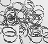 50 pcs Split Ring Fishing Lure, Lanyard, Dog Tag Connector Nickel Plated Spring Steel 12mm