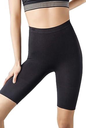 0947532043 +MD Women s Thigh Shapewear High Waist Mid Thigh Shaper Slimmer Power  Shorts XSmall Black