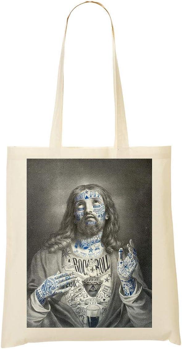 Herto Art Inked Jesus Christ Artwork Sac Fourre-tout Sac /à provisions