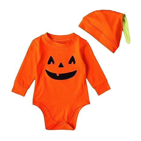 Trajes de calabaza de bebé de Halloween Traje de manga larga de ...