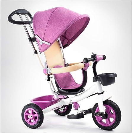 GJNWRQCY Triciclos Bebes evolutivo Juguetes año 1-3 niños Bicicleta Bicicletas Bici Plegable niñas bebé Asiento Cochecito cestas,Rosado: Amazon.es: Hogar