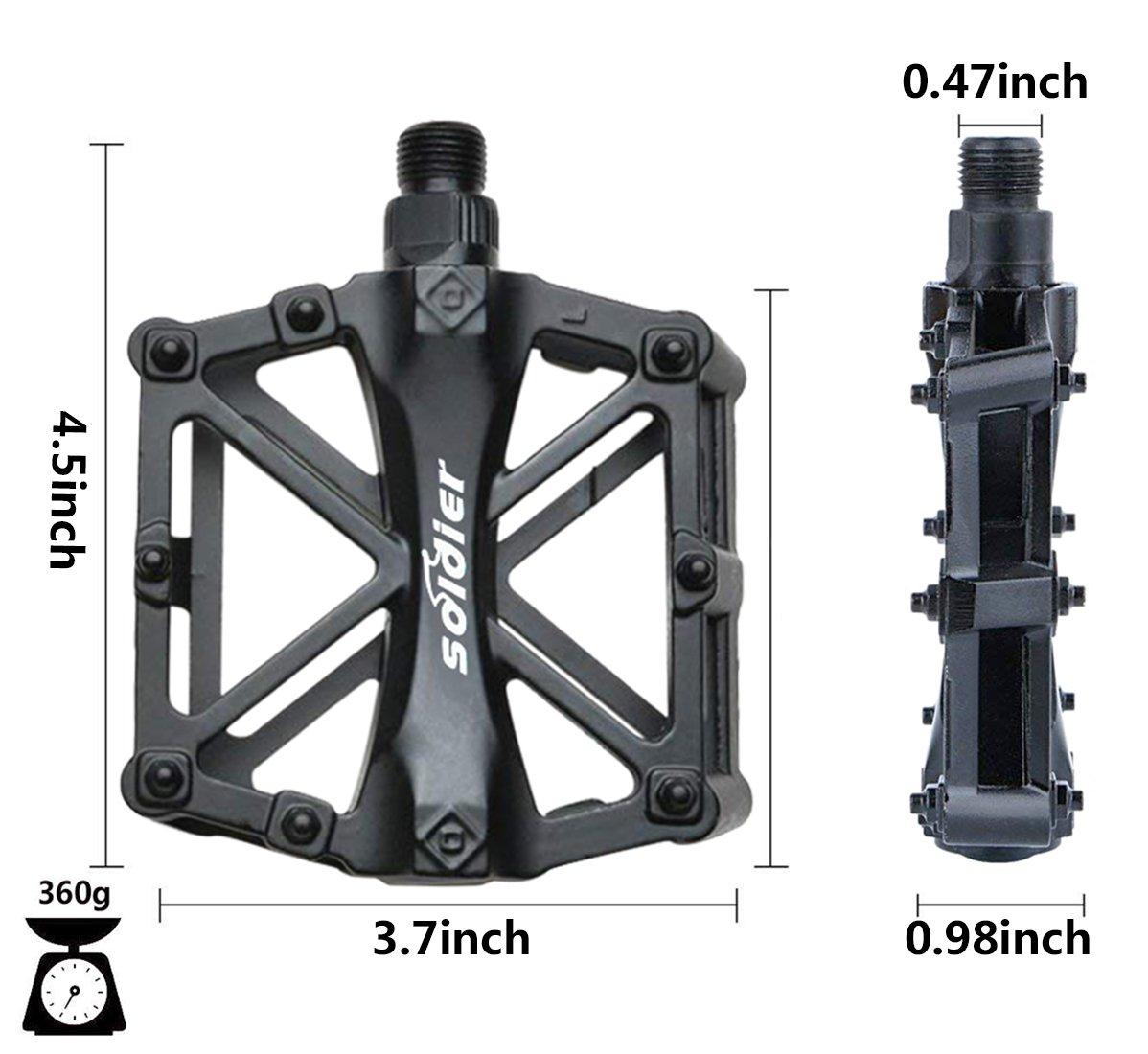 Pedales Bicicleta, Pedals Impermeable 9/16 Pulgadas con Sellado ...