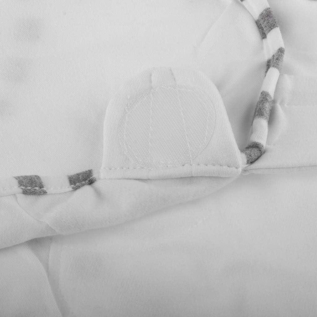 SM SunniMix Neugeborenen Pucksack Pucktuch Puckdecke 0-3 Monate Schlafsack mit Baby M/ütze Blau