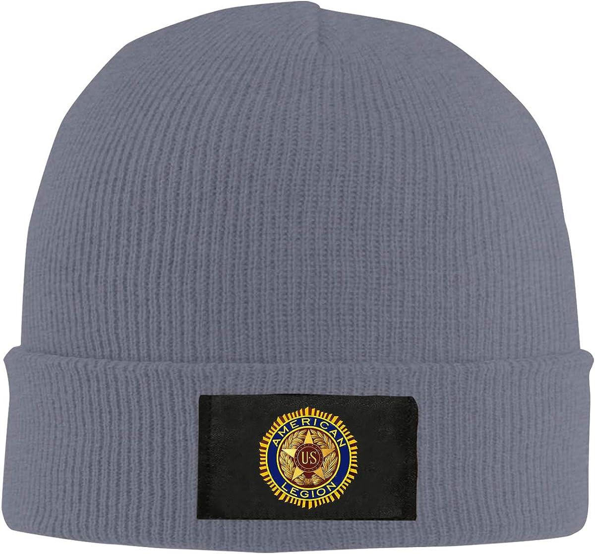 American Legion Unisex Warm Winter Hat Knit Beanie Skull Cap Cuff Beanie Hat Winter Hats
