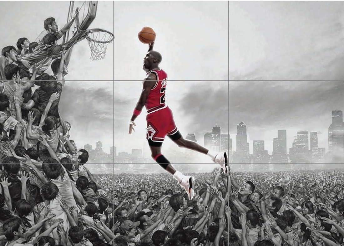 MICHAEL JORDAN NBA SLAM DUNK HUGE GIANT PICTURE AFICHE CARTEL ...