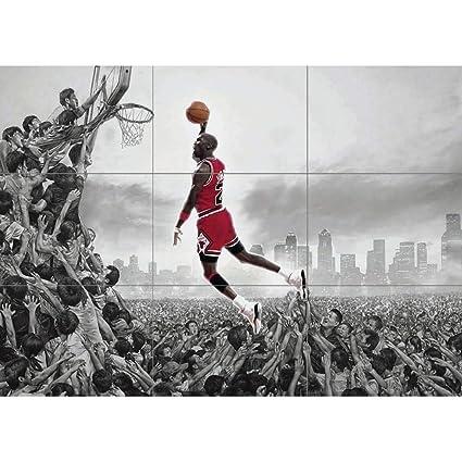 super popular b8066 d5ac0 Amazon.com  MICHAEL JORDAN NBA SLAM DUNK HUGE GIANT PICTURE POSTER ART  JM072  Posters   Prints