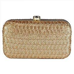 Royal Pitarah Women's Sequin Box Clutch Golden 7