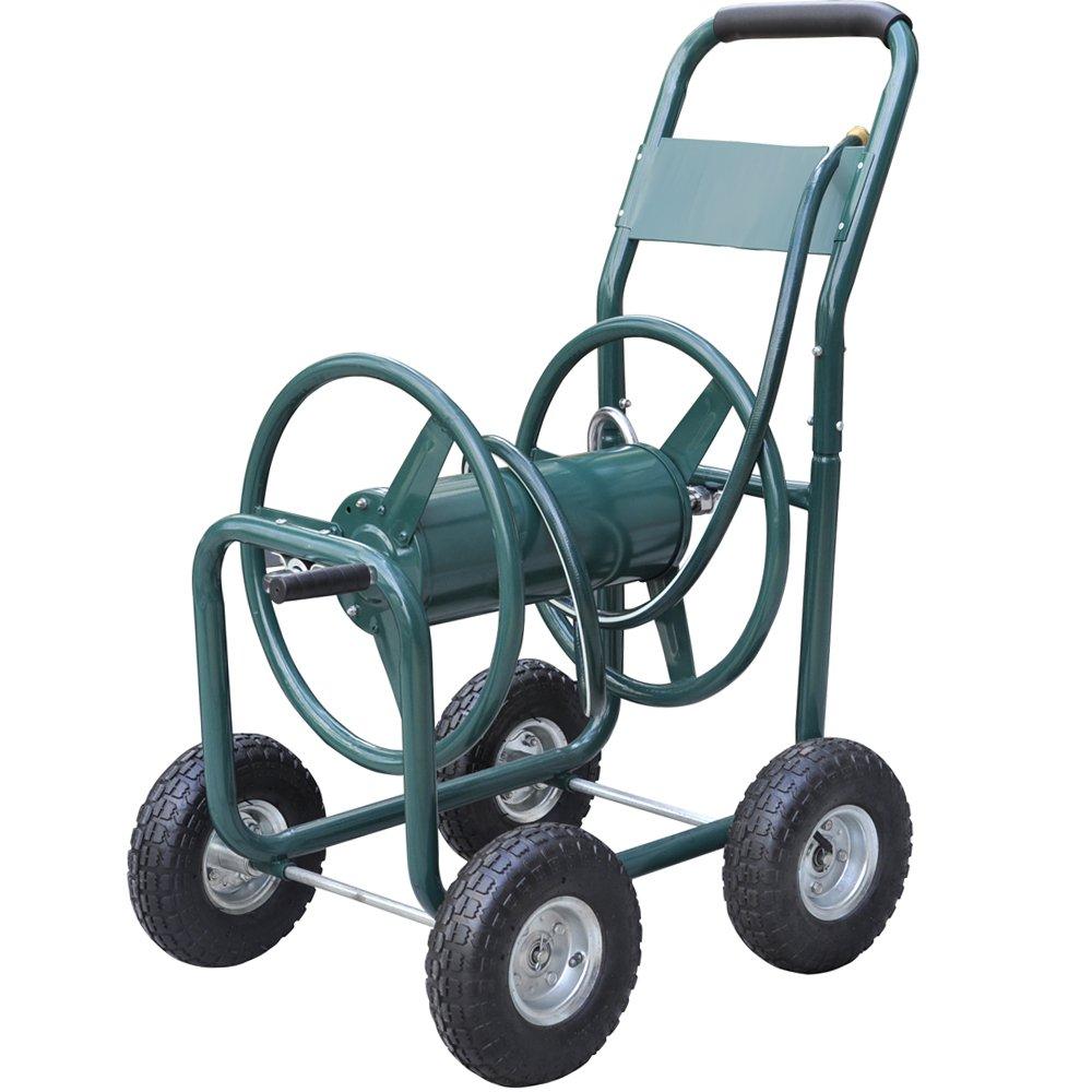 World Pride New Garden 300' Heavy Duty Water Hose Reel Cart Yard Water Planting