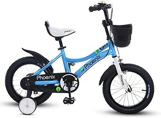 GLJJQMY Bicicletas for niños 18 Pulgadas Bicicleta for niñas 5-6 ...