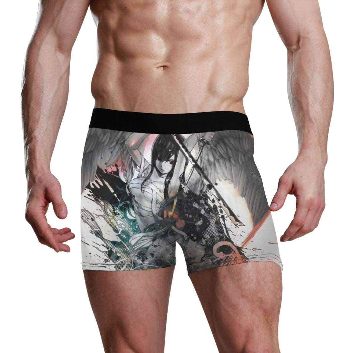 AENDers Fairy Tail Erza Scarlet Mens Underwear Soft Boxer Briefs Stretch Boxer Trunks