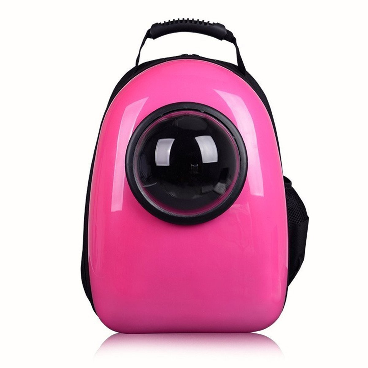 pink red YQWEL Pet Dog Cat Bubble Carrier Airline Approved Shoulder Backpack Mobile Bed for Travel Hiking (pink red)