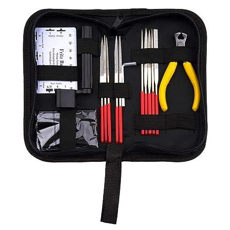 CCMART Kit de reparación de guitarra, juego de 15 piezas de herramientas de mantenimiento de guitarra ...