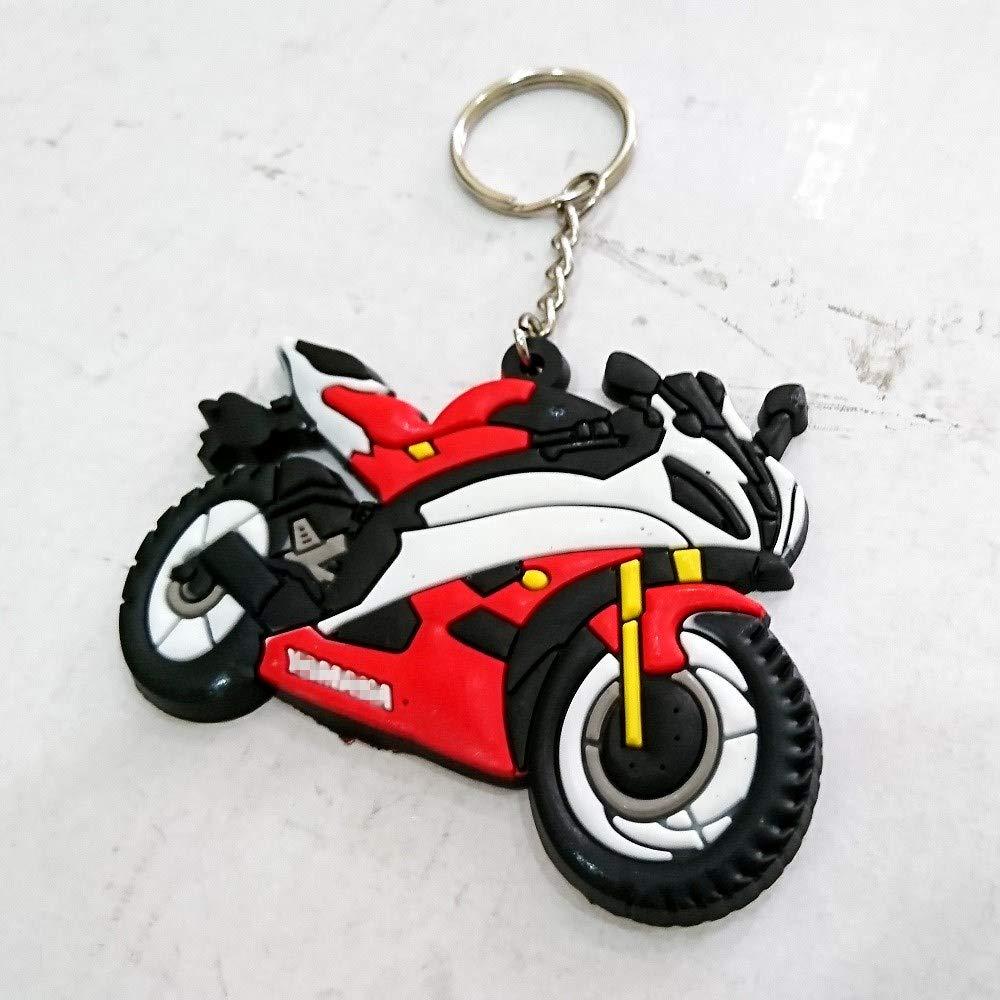 Bike Automotive Keyring Keychain Keytag For Aftermarket Universal Motorcycle Accessories For Example Super Bike Sport Bike Street Bike yamaha Yzf R1 R6 R6s Fz6 Fz Fazer Fz1 Fz Rider Enthusiasts Fans aegarageae198619861298