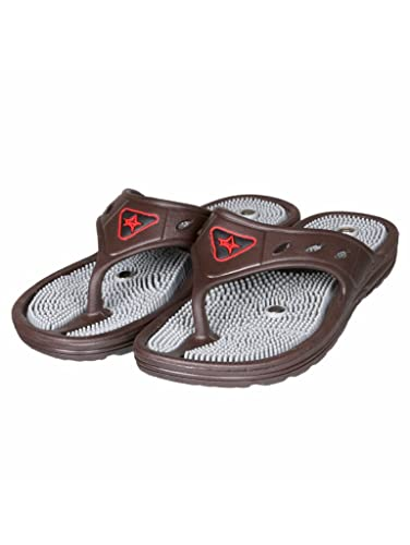 114b90b568c4 Unistar Acupressure Slippers  GH-01-Brn for Pain Relief Brown  Buy Online  at Low Prices in India - Amazon.in