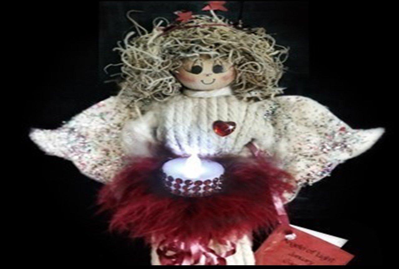 Birthstone Angel Night Light - January Collectible