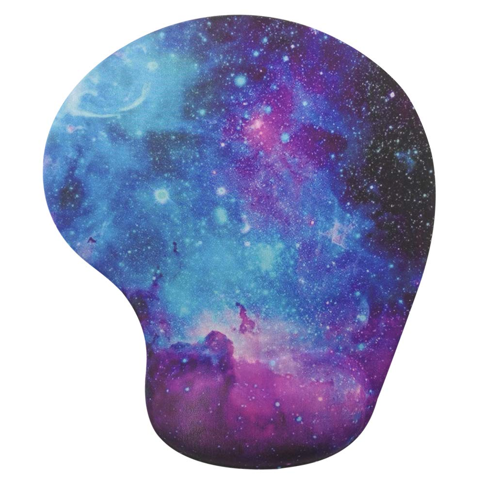 Memory Foam Mousepad with Wrist Support Galaxy Space Customized Personality Desings Ergonomic Mouse Pad