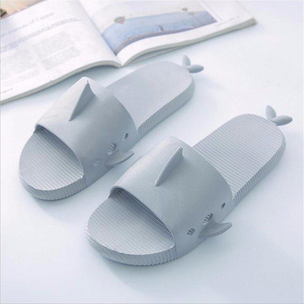 YMFIE Sommer Home Herren Outdoor rutschfeste Hausschuhe Schwimmbad Schuhe atmungsaktiv toed Sandalen Light grey