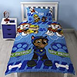Paw Patrol 'spy' Single Duvet Set - Repeat Print Design, Multicolour