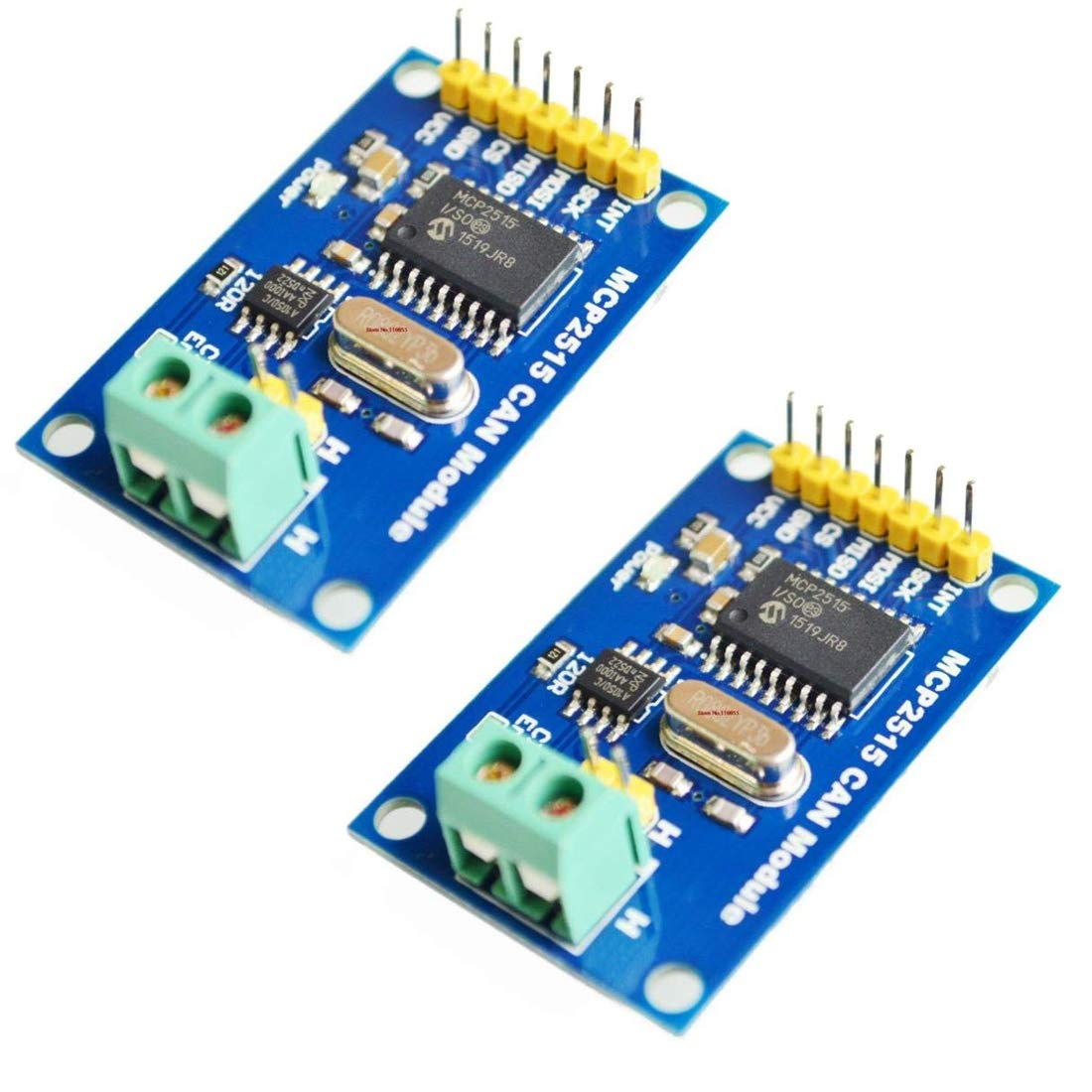 HiLetgo 2pcs MCP2515 CAN Bus Module TJA1050 Receiver SPI Module for Arduino AVR