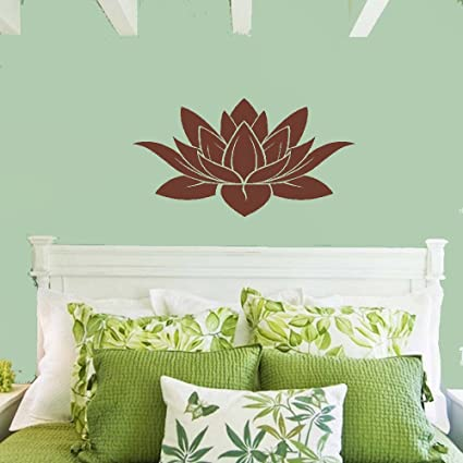 Large Removable Lotus Flower Mandala 3D Window Decal WALL STICKER Home Decor Exotic Beach View Art