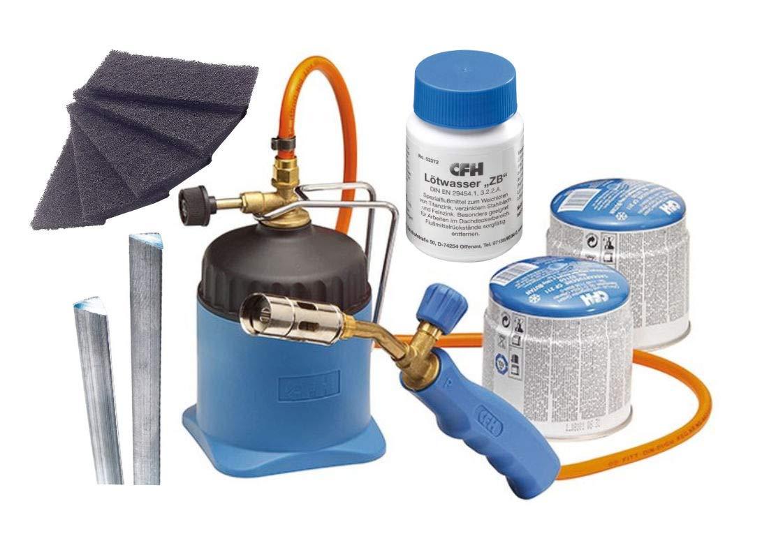 CFH LM3000 Kit de soudure avec soudure en zinc et tôle de soudure + intissé