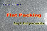 SISER GLITTER EASY WEED HEAT TRANSFER GLITTER VINYL 20 INCHES BY 1 FOOT (12 INCHES). HTV GLITTER VINYL SHEET 12 X 20 SISER EASYWEED GLITTER HEAT TRANSFER VINYL (SILVER)