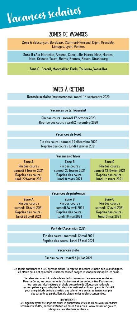 Mini Frigobloc mensuel 2021   Calendrier d'orga. familiale / 12