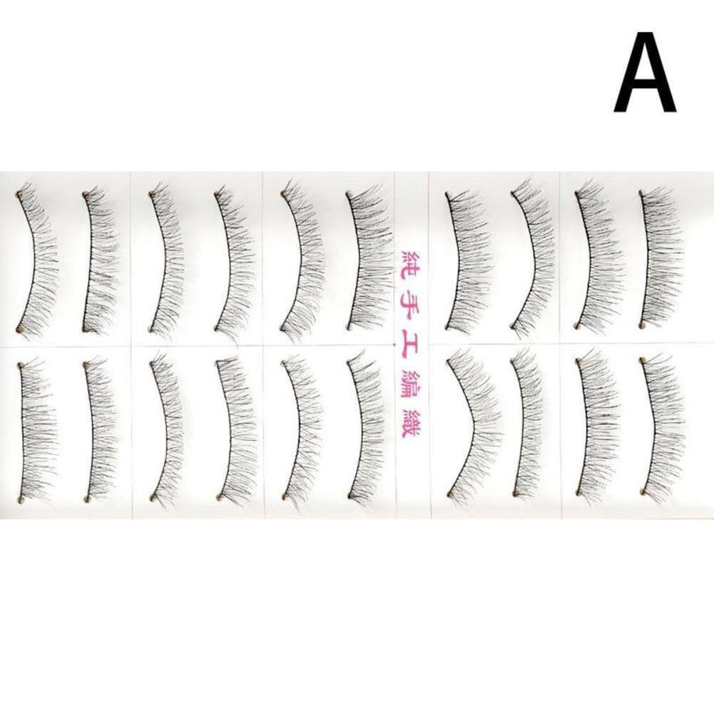 Gracefulvara 10 Pairs Handmade Natural Long FALSE Eyelashes, Style B