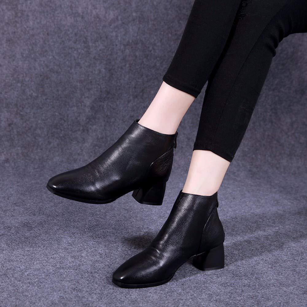 KOKQSX-Damen - Stiefel wärme Leder wärme Stiefel Mode Martin Stiefel Kurze Stiefel. 13619c