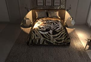 Solaron Original Mink Plush Korean Style Durable Blanket - 4ESTACIONES (Brown Tiger, Queen)