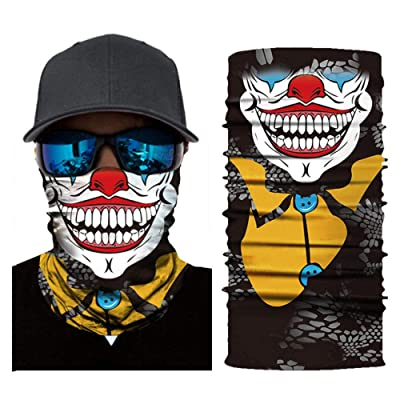 DianDianwl 3D Seamless Digital Printing Outdoor Sports Riding Quick-Drying Sunscreen Clown Woman Funny Halloween Magic Towel Skiing Windproof Kerchief-E-2Pcs: Toys & Games