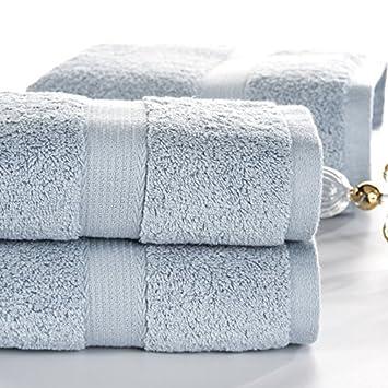 Generic Caqui: sunnyrain - Juego de color sólido algodón egipcio juego de toallas toalla de baño para adultos toalla de ducha G 600 G water-absorbent ...