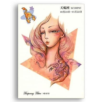 Brillo Falso Tatuaje temporal Pegatinas portátiles Transferencia ...