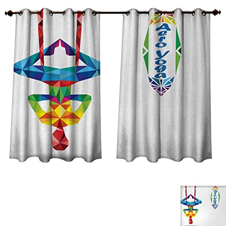 Amazon.com: Anzhouqux Yoga Blackout Thermal Curtain Panel ...