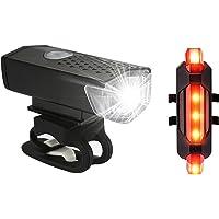 Kit de luzes de bicicleta recarregável, conjunto de farol e lanterna traseira, liberação rápida, impermeável, vários…