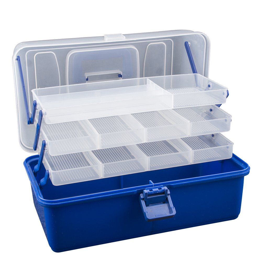 Aneil 4 Tier Waterproof Fishing Tackle Lure Bait Hooks Accessory Storage Box Organize Containers