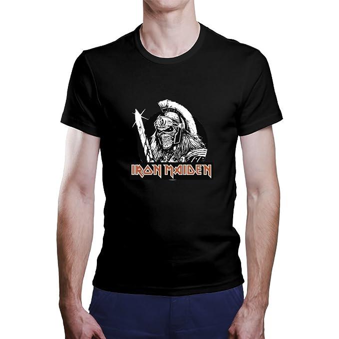 OKAPY Camiseta Iron Maiden. Una Camiseta de Hombre con un Esqueleto Guerrero de Iron Maiden