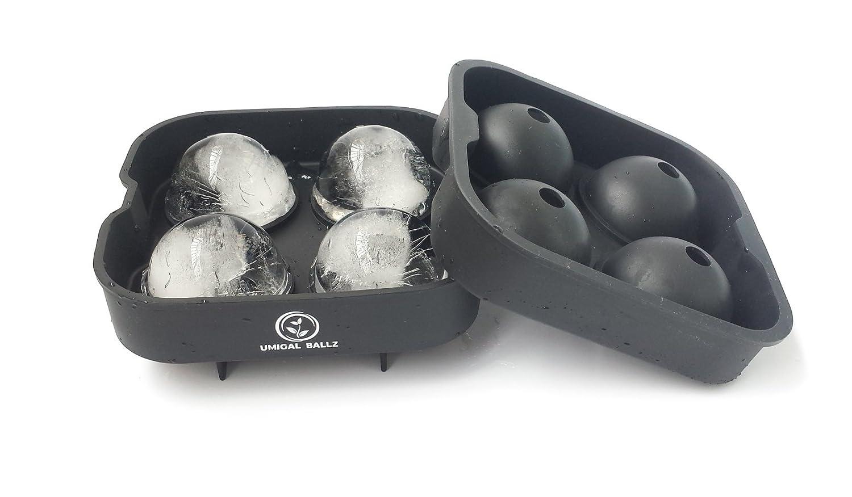 Moule /à Sph/ères de Glace Ice Ball Mold Sphere silicone Ice Maker ronde 4 x 4,5 cm cocktail et chaque Boisson 4 schwarz id/éal pour les Japonais Whiskey
