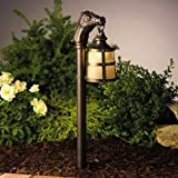 15393OZ Kentucky 1LT Incandescent/LED Hybrid Low Voltage Landscape Path and Spread Light, Olde Bronze finish with Light Linen Glass