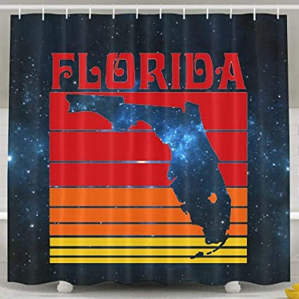 Image Unavailable Not Available For Color MKILIJNH Retro Florida Shower Curtain 60x72inch