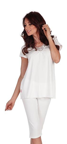 Comodos Pijamas Set Mujer Top Cuello V Ropa de Noche: Amazon.es: Ropa y accesorios