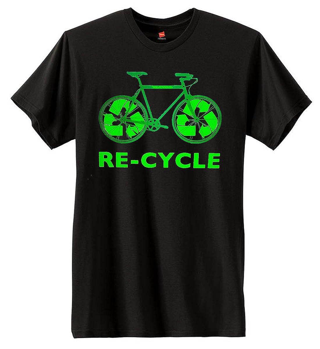 70aba90d Amazon.com: U.S. Custom Ink Men's RE-CYCLE T-Shirt Black (Large ...