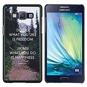 YiPhone /// Prima de resorte delgada de la cubierta del caso de Shell Armor - Libertad Gusto Do Felicidad Inspiring - Samsung Galaxy A5 A5000